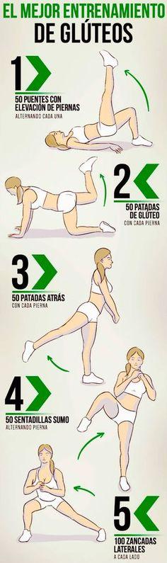 I➨ Te compartimos el mejor entrenamiento de glúteos para perfilar tu figura en este verano y lucir un cuerpo espectacular (ejercicios ilustrados).