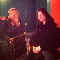 Ashley  Benson and lucy Hale set PLL season 5