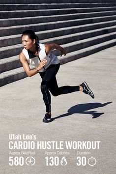 Build lean muscle and work up a heart-pounding sweat in the new Nike+ Training Club Cardio Hustle workout from Nike Master Trainer Utah Lee.