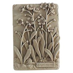 Forget-Me-Not Wall Plaque - Outdoor Wall Art at Hayneedle