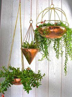 Copper Globe Hanging Planter #affiliate