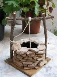 Miniature Fairy Garden simple wishing well için resim sonucu