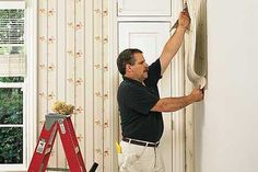 This is the best step-by-step I have seen for hanging wallpaper.