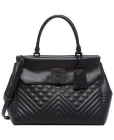 Guess Rebel Roma Satchel - Black