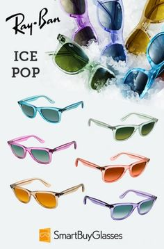 Ray Ban Ice Pop Wayfarer Line. I need the Blueberry (Lt. Blue) and the Mint (Lt. Green) ones in my life!!!!