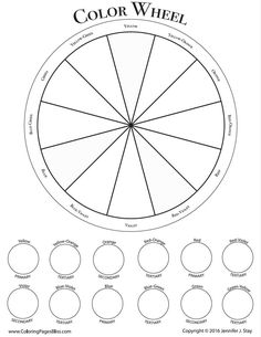 Blank Color Wheel For Students Click On The Link Below To Download