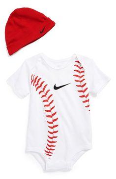 Nike Baseball Bodysuit & Hat (Baby) available at #Nordstrom