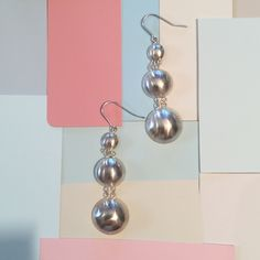 Silver dome earrings from Pemba Boutique