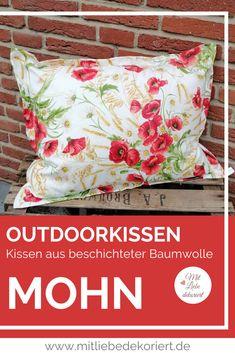 Kissenhülle Rote Punkte Beschichtete Baumwolle 4 Größen Outdoor- Loungekissen
