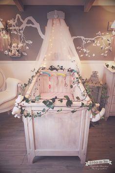 La chambre bébé de Louise I. - cute, baby room, chambre bébé, chambre fille, deco chambre bebe, romantique, poetique