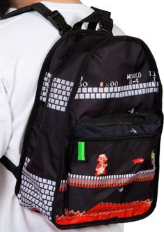 Show everyone that the 80s were the best with this reversible Super Mario Bros backpack