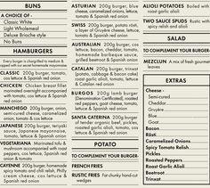 KIOSKO BURGER menu