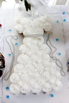 Wedding Dress Pull Apart Cake! So amazing at a Bridal Shower!!