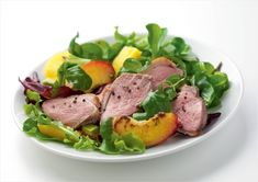 #Al Fresco dining #Duck salad   Who said salads are boring? Try this Gressingham duck breasts with a summer peach, mango and avocado salad. Delicious and refreshing