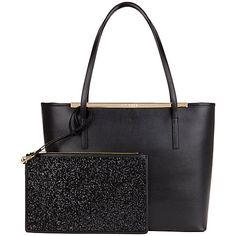 Buy Ted Baker Jasmena Leather Embellished Large Shopper Bag, Black Online at johnlewis.com