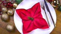 Napkin Rings, Origami, Napkins, Table Decorations, Tableware, Christmas, Advent, Youtube, Home Decor