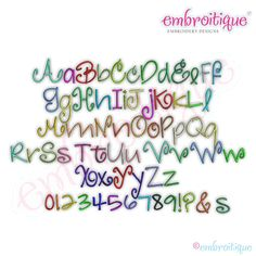 Jan - March - Vanessa Monogram Font Set - Small on sale now at Embroitique!