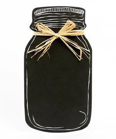 This Mason Jar Chalkboard is perfect! #zulilyfinds