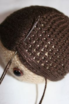 Amigurumi hair tutorial and tips ❁•Teresa Restegui http://www.pinterest.com/teretegui/•❁