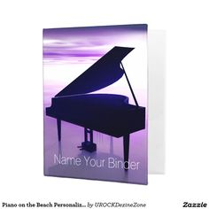 #Piano on the #Beach Personalized #Music Mini #Binder   #zazzle