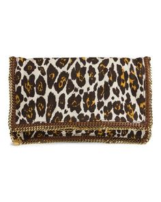 Stella McCartney- Foldover Clutch- Leopard