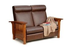 Amish Paradise Mission Reclining Loveseat It's easy to doze off in the comfy Paradise Loveseat. Ultra rich in solid wood and fine upholstery. Handcrafted in Amish country. Built to last for generations. #loveseats #livingroom Tiny Living Rooms, Living Room Modern, Living Room Designs, Cozy Living, Simple Living Room Decor, Living Room Seating, Wood Furniture Living Room, Home Furniture, Furniture Ideas