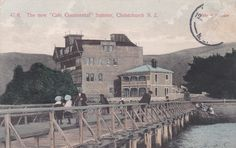 The New Cafe Continental, Sumner, Christchurch, NZ. A fire destroyed the Hotel on 14 June 1909.