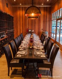Sbragia Family Vineyards || This newly renovated space stores Ed Sbragia's wines dating from 2001 and is used for private tastings. Use the Library for groomsmen pictures! #milestoneeventsgroup #sbragiafamilyvineyards