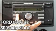 How to enter service mode in #Ford 6000 CD #radio unit C-Max #Focus #Fiesta #cars