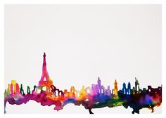 Paris Watercolor Illustration