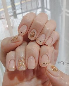 Spring Summer Pastel Neutral Nail Art Designs - Page 10 of 10 - Love & Bling Gel Nail Art Designs, Nail Designs Spring, Spring Nail Art, Nails Design, Cute Nails, Pretty Nails, Neutral Nail Art, Nagel Hacks, Pin On