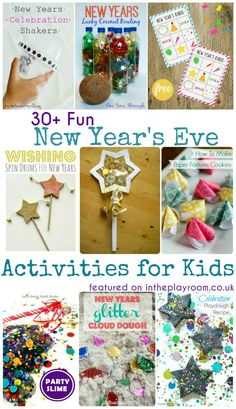 30+ fun New Years Eve activities for kids including party games, new years eve party food, firework crafts and loads more