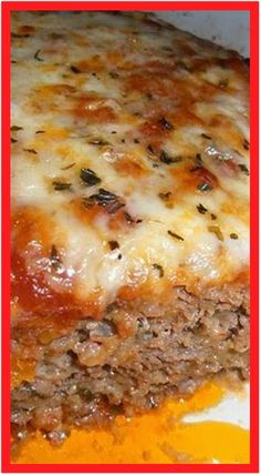 Recipe for Italian Meatloaf - This outstanding Italian Meatloaf recipe is sure to please the entire family, and the leftovers (if you're lucky enough to have any!) are amazing! meatloaf recipe Recipe for Italian Meatloaf Hamburger Meat Recipes, Meatloaf Recipes, Beef Recipes, Gourmet Recipes, Dinner Recipes, Healthy Recipes, Cheap Recipes, Hamburger Casserole, Easy Recipes