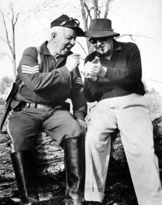 Hoot Gibson and John Ford