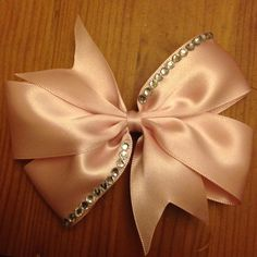 Beautiful diamonte hair bow, handmade :)