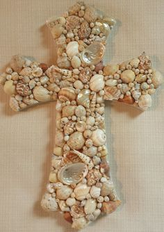 Shell Cross, SeaShell Cross, Beach Wedding Gift, Beach Decor ...