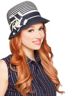Keep Your Friends Cloche Hat in Navy. Your fantastic pals will never want to leave your side once you arrive at todays outdoor luncheon wearing this straw cloche hat. #blue #modcloth