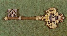 Llave insignia distintivo de los gentilhombres de cámara en el reinado de Alfonso XIII de España