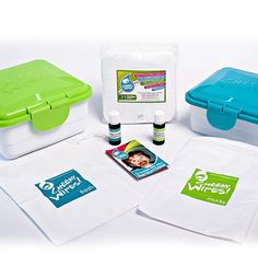 Cheeky Wipes BW-Frottee All-in-one-Kit *2xBox, 2 Wetbags, 25 Tücher