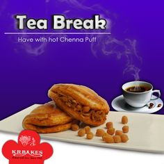 Tea break without a hot chenna puff is incomplete.  #KRBakes #KRBakesSince1969 #BakedWithLove