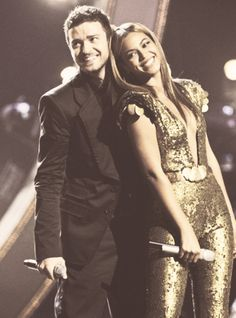 JT & Beyonce...ok so like 2 of my faves... i know they're werent, arent and probably will never be together but damnnn