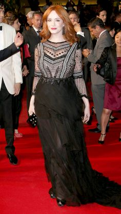 The Best of the 2014 Cannes Film Festival Red Carpet - Christina Hendricks from #InStyle
