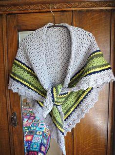 Crochet shawl finished!
