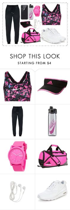 """Jym style ♡"" by raghad-baloley ❤ liked on Polyvore featuring NIKE, adidas and Rip Curl"