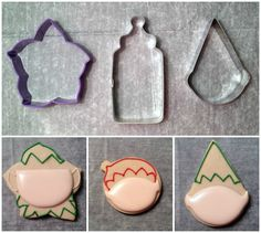 Decorated Elf Cookies with Artfully Delicious {Guest Post} using odd  cutters