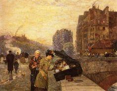 The Quai St-Michel, 1888 - Frederick Childe Hassam (1859-1935)