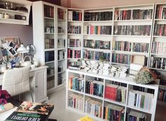 Trendy home library design billy bookcases Ideas Home Library Rooms, Home Library Design, Dream Library, Home Libraries, House Design, Library Ideas, Bookshelf Inspiration, Ikea Inspiration, Library Bookshelves