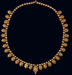 Necklace composed of 125 Turtle Pendants with granulation + 52 beads = total 83 units Material(s): Gold Date of Object: Mid-5th century BC Origin: Colchian Measurements(s): H of beads: 2.96cm, L of chain: 33cm, Weight: 85.91g Provenance: The Georgian National Museum Find Location: Vani, Grave 11