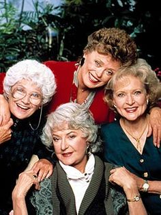 The Golden Girls, clockwise: Estelle Getty, Rue McClanahan, Betty White and Beatrice Arthur