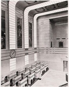 Art Deco Toronto Stock Exchange Trading Floor. @designerwallace